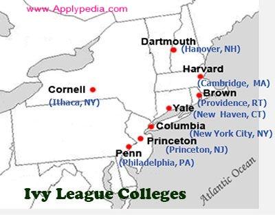 IVY LEAGUE، دانشگاه های آیوی لیگ آمریکا